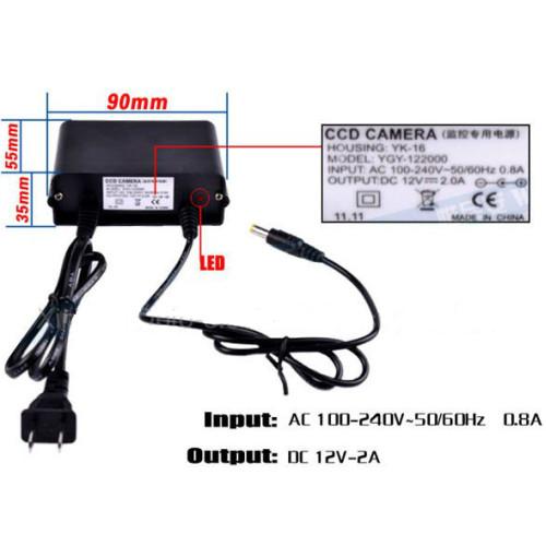 CP-12-2AW1/ Alimentator de tensiune de exterior pentru camere de supraveghere 12V/2A