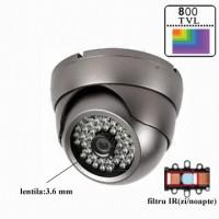 ADST20P80/ Cameră de supraveghere tip Dome 800 TVL de interior/exterior
