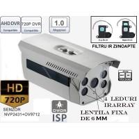 AHD100-ER4/ Cameră de supraveghere AHD de exterior cu vedere de noapte până la 50-60 m și lentilă fixă de 4 mm