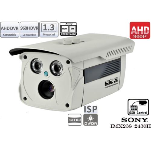 EAHD130-ER2/ Cameră de supraveghere AHD de exterior cu vedere de noapte până la 25-30 m și lentilă fixă de 4 mm