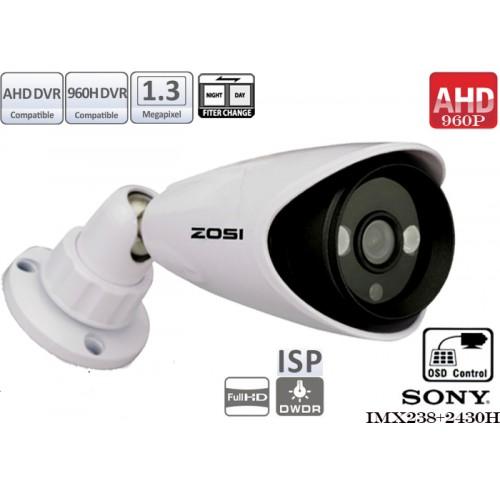 EAHD130-T193ER2/ Cameră de supraveghere AHD (960P) de interior/exterior cu 2 leduri IR ARRAY pentru distanțe medii pe timp de noapte și lentilă fixă de 3,6 mm