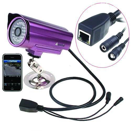 APM-J0233/ Cameră de supraveghere cu funcție internet,  infraroșu de exterior cu vizualizare directă pe telefoane mobile cu 3G