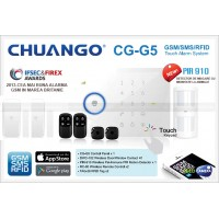 CG-G5/ Sistem de alarmă CHUANGO GSM/SMS/RFID cu 50 zone wireless și 2 zone pe fir