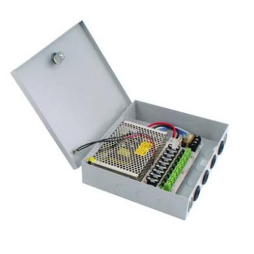 CP-12-05C09/ Sursă de alimentare cu joncțiune pentru maxim 9 camere de supraveghere 12V/5A