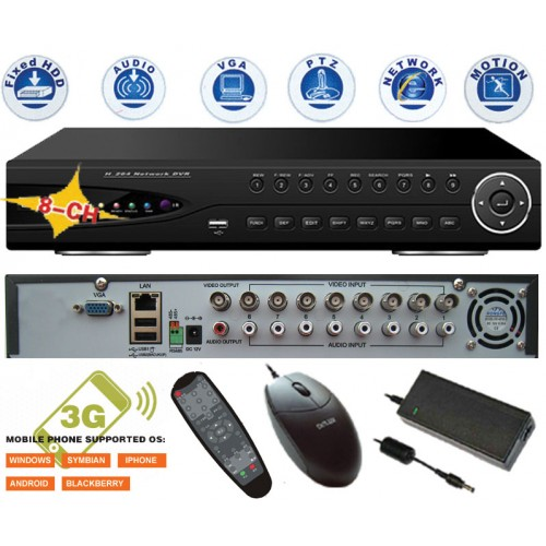 DVR-9308/ DVR cu 8 canale video și 8 canale audio
