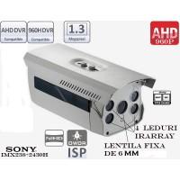 EAHD130-ER4_4mm/ Cameră de supraveghere HD de exterior cu vedere de noapte până la 50-60 m și lentilă fixă de 4 mm