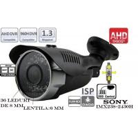 EAHD130-T208IR36/ Cameră de supraveghere AHD cu vedere de noapte până la 25-30 m și lentilă fixă de 6 mm