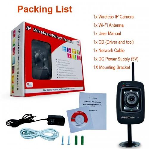 FI-8909W/ Cameră de supraveghere wireless cu funcție internet, infraroșu și audio (duplex) de interior