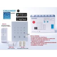 GO2/ Sistem de alarmă GSM/SMS cu 50 zone wireless CHUANGO