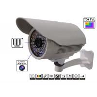 GS-700ACT050IR48/ Cameră de supraveghere analogică 700 TVL cu cipset Sony, carcasă metalică albă pentru exterior/interior și lentilă fixă de 3,6 mm