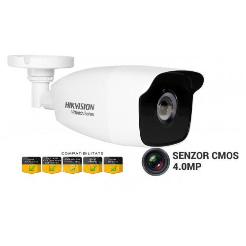 HWT-B240/ Camera Turbo HD Hikvision HiWatch , 4MP, lentila 2.8mm, 4In1, EXIR 2.0, Smart IR 40m, IP66