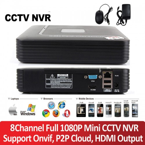 MHK-N1008FP/ Network Video Recorder pentru 8 canale full 1080P (2 Mpixeli)