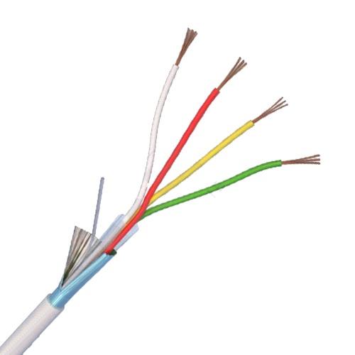 Cablu 4CUEF de alarmă 4 fire ecranate, cupru integral - 100 m ELAN (Italia)