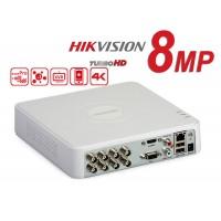 DS-7108HUHI-K1/ DVR HIKVISION cu 8 canale video 8 MP și 1 canal audio, H.265 Pro +