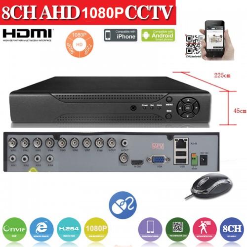 AHD2008Z/ AHD DVR 8 canale 1080N(960*1080)  compatibil cu camerele AHD de 1,1.3 si 2 Mpixeli