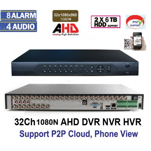 AHD8132/ Tribrid DVR/HVR/NVR compatibil cu camerele AHD până la 2 Mpixeli, analogice și cu IP