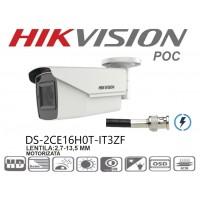 DS-2CE16H0T-IT3ZE 5MP/ Cameră de supraveghere 4 în 1 HIKVISION, lentilă motorizată între 2,7-13,5 mm, IR EXIR 2.0 80m, IP67 cu alimentare POC