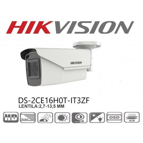 DS-2CE16H0T-IT3ZF 5MP/ Cameră de supraveghere 4 în 1 HIKVISION, lentilă motorizată între 2,7-13,5 mm, IR EXIR 2.0 40 m, IP67