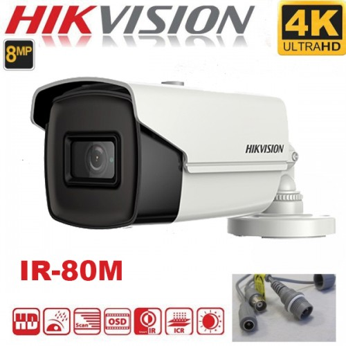 DS-2CE16U1T-IT5F 8MP/ Cameră de  supraveghere 4 în 1 HIKVISION, lentilă de 3,6 mm, IR 80 m, IP67