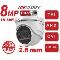 DS-2CE76U1T-ITMF 8MP/ Cameră de supraveghere 4 în 1 HIKVISION, lentilă de 2,8 mm, IR 30 m, IP67