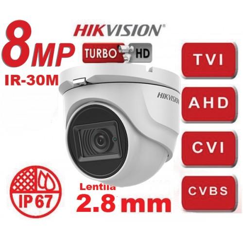 DS-2CE76U1T-ITMF 8MP/ Cameră de supraveghere 4 în 1, lentilă 2.8 mm, IR 30 m - HIKVISION IP67
