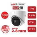 DS-2CE78H8T-IT3F / Camera 4 in 1, ULTRA LOW-LIGHT, 5MP, lentila 2.8mm, IR 60m - HIKVISION