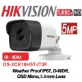 DS-2CE16H0T-IT3F 5MP /Camera supraveghere 4 in 1 Hikvision, 2.8mm, IR EXIR 2.0 40m, IP67