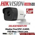 DS-2CE16H0T-ITE 5MP /Camera supraveghere 4 in 1 Hikvision, 2.8mm, IR EXIR 2.0 20m, IP67 cu alimentare POC
