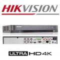DS-7204HUHI-K1/ Dvr 4 canale, 5 Megapixeli, Hikvision cu 4 intrari video+audio, compresie H265+