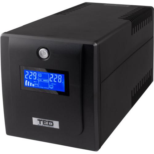 TED-DZ088391/ Sursă de alimentare neîntreruptibilă (UPS) AVR la 1.100 VA cu 2 baterii