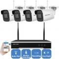 KIT-WIFI-2MP (4B)/ Kit de supraveghere NVR 4 canale + 4 camere de interior/exterior wirelles IP full HD la 2 MP
