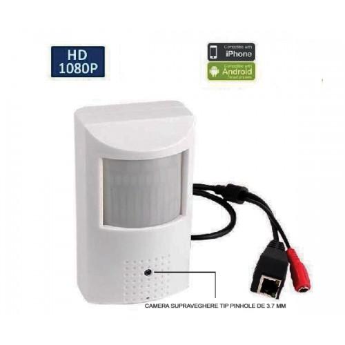 UV-IPCC102/ Cameră de supraveghere cu funcție internet la 2 Mpixeli disimulată în PIR detector de mișcare cu cipset Sony Plug&Play H.265