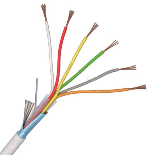 Cablu 6CUEF-T de alarmă 6 fire ecranate, cupru integral - 100 m ELAN (Italia)