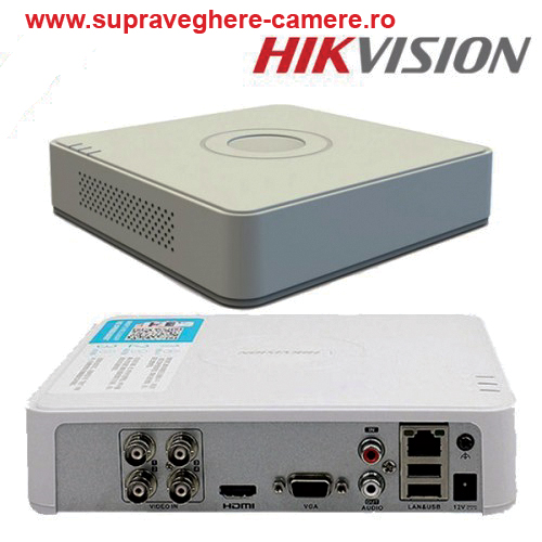 DS-7104HQHI-K1/ DVR HIKVISION cu 4 canale video 2 MP  și 1 canal audio, H.265