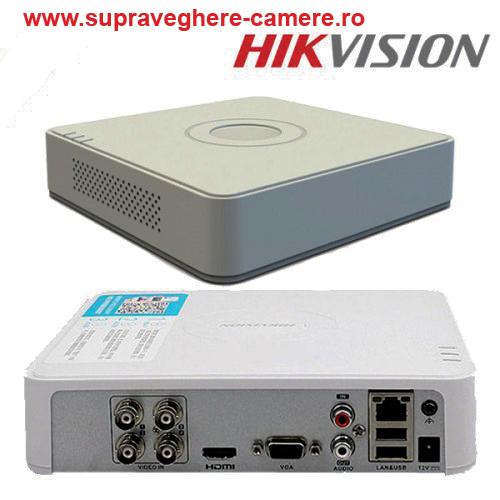 DS-7104HQHI-K1(S)/ DVR HIKVISION cu 4 canale video 4 MP lite  și 1 canal audio, H.265+