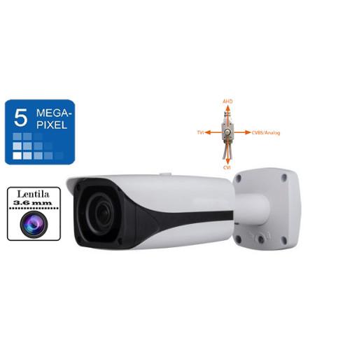 UV-HDBG624/ Cameră de supraveghere AHD 5 Mpixeli/TVI/CVI(1080P)/CVBS  de exterior/interior pentru 20 metri pe timp de noapte