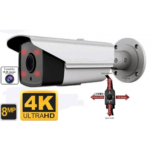 UV-HDBK525/ Cameră de supraveghere de exterior 4 în 1 AHD/TVI/CVI/CVBS (8 Mpixeli/4K) pentru 40 metri pe timp de noapte