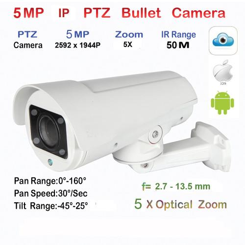 UV-IPPTZS09A/ Minicameră de supraveghere tip speed-dome de înaltă rezoluție 5 Mpixeli motorizat, autozoom-autofocus (IP66), cu sistem de compresie H.265