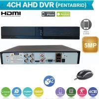 XVRZ401/ Pentabrid DVR cu 4 canale 5 Mpixeli compatibil cu camerele Analog/AHD/HD‐CVI/HD‐TVI/IP