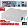 XVR-2904BK/ Pentabrid DVR cu 4 canale 5 Mpixeli compatibil cu camerele Analog/AHD/HD‐CVI/HD‐TVI/IP