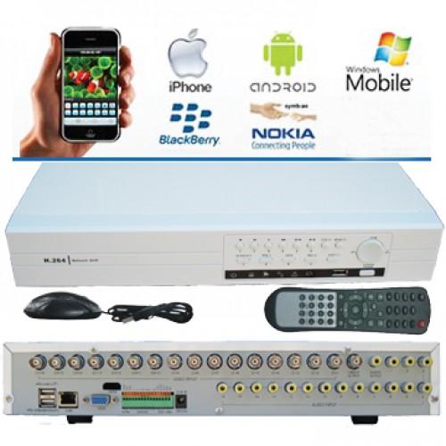 """SEDVR-6316PD/ DVR cu 16 canale analogic, înregistrare în mod """"half D1"""", pentru rețele 3G"""