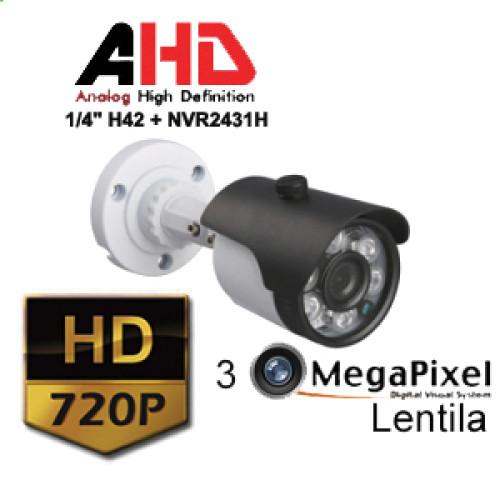 UV-AHDBX517/ Camera supraveghere AHD(1 Mpixel)de exterior/interior pentru 25 metri pe timp de noapte si lentila de 3,6 mm