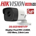 DS-2CE16H0T-ITF 5MP /Camera supraveghere 4 in 1 Hikvision, 2.8mm, IR EXIR 2.0 20m, IP67