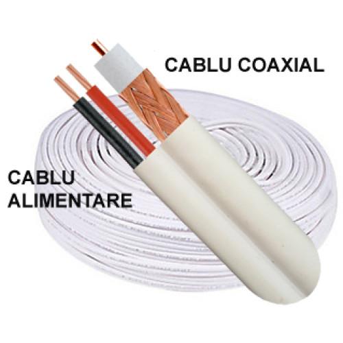 Cablu RG59 cu alimentare, role de 100 m