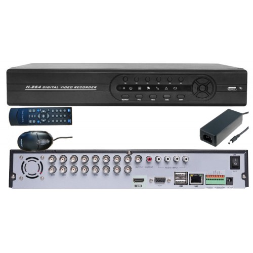 SEDVR-6316KDM/ DVR cu 16 canale video și 4 canale audio full D1
