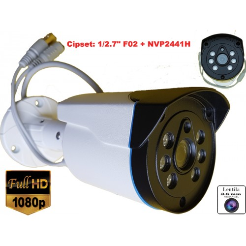 UV-AHDBP520/ Cameră de supraveghere AHD 2 Mpixeli de exterior/interior pentru 25 metri pe timp de noapte