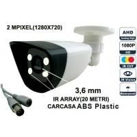 UV-AHDBP607/ Cameră de supraveghere AHD (2 Mpixeli) de exterior/interior pentru 20 metri pe timp de noapte