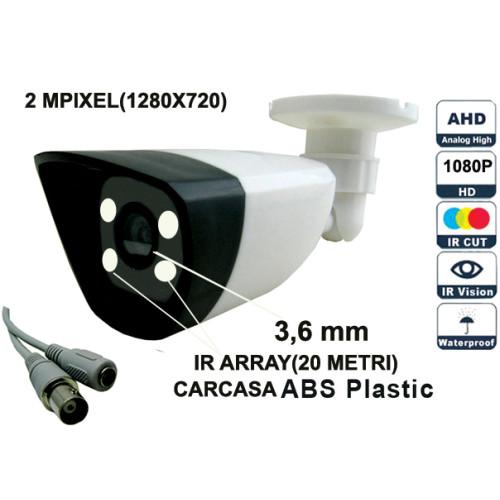UV-AHDBP607/ Camera supraveghere AHD(2 Mpixeli) de exterior/interior pentru 20 metri pe timp de noapte