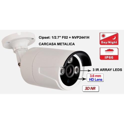 UV-AHDBP612/ Cameră de supraveghere AHD 2 Mpixeli de exterior/interior pentru 15-20 metri pe timp de noapte