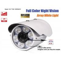 UV-AHDBP901/ Cameră de supraveghere AHD (2 Mpixeli) de exterior pentru 50 metri pe timp de noapte color (leduri albe)